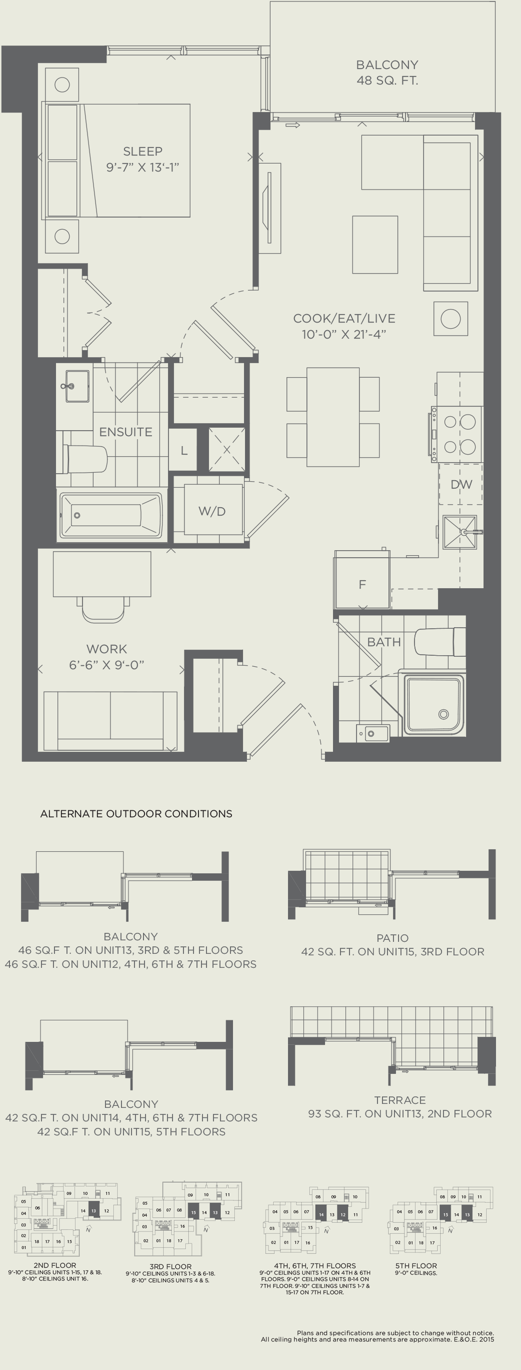 Suite 1E 628 SQ. FT.