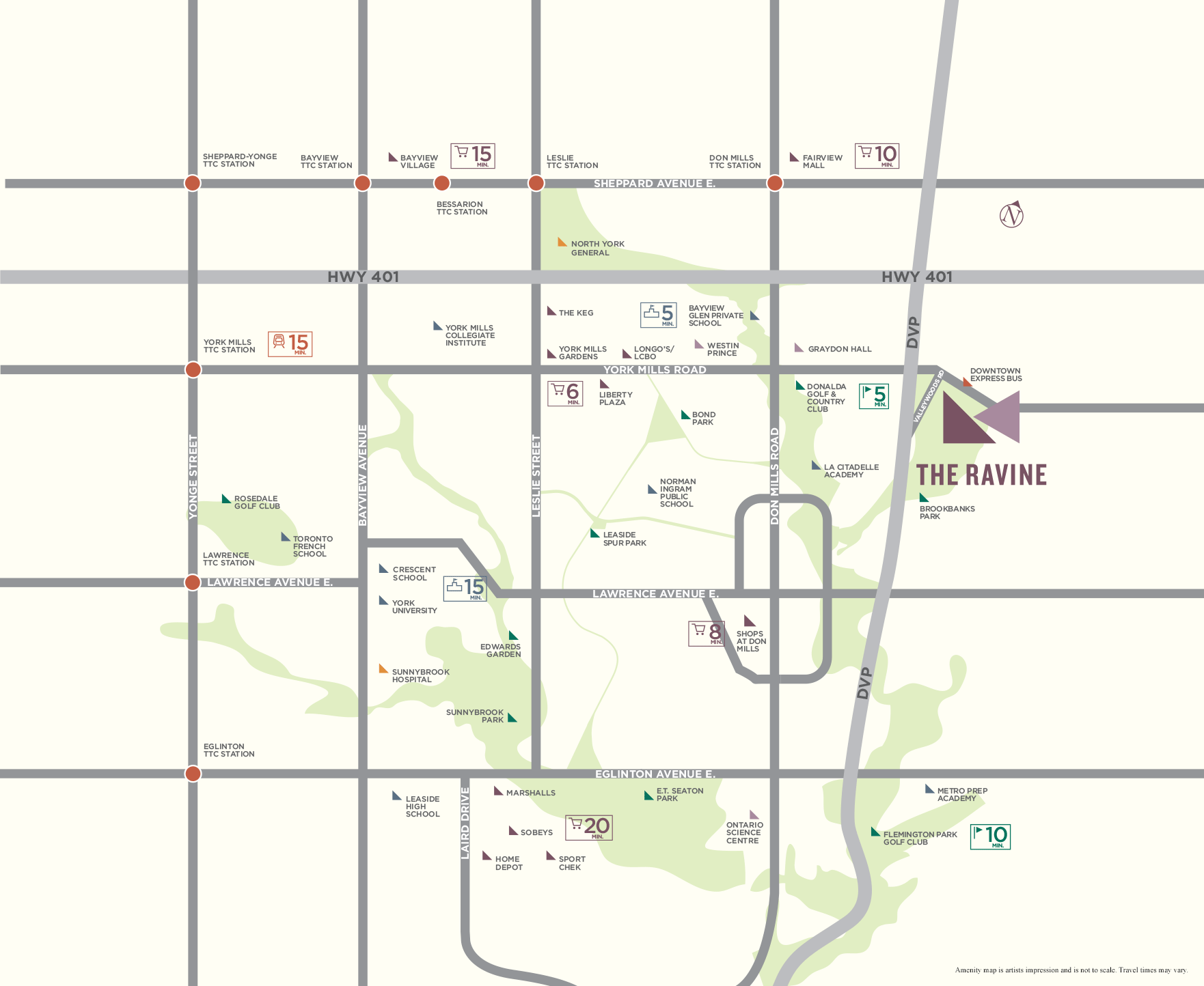 The Ravine Location Map