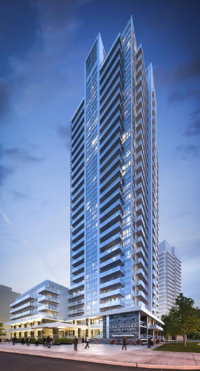The ravine Highrise rendering